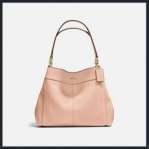 NWT COACH Small Lexy Shoulder Bag - Nude Pink